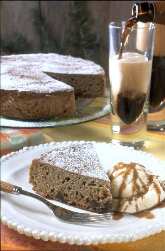 Stout Beer Date Cake with Toffee Sauce