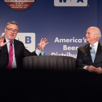 NBWA President & CEO Craig Purser and National Automobile Dealers Association President & CEO Peter Welch