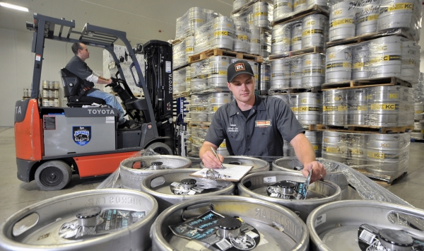 Forklift and Kegs