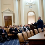 House Majority Leader Kevin McCarthy talks to Beer Distributors