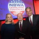 NBWA EVP Government Affairs Laurie Knight, Rep. Kevin Brady and Faust Distributing Co. Chairman/CEO Don Faust