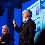 NBWA EVP, Government Affairs Laurie Knight and Craig Purser